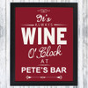 It's Wine O'Clock Wall Art for a Home Bar
