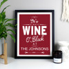 Personalised It's Wine O'Clock Wall Art