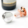 Personalised Wine Bottle Stopper with Rubber Seal