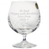 Large Engraved Crystal Brandy Glass