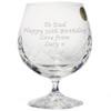 Large Engraved Crystal Brandy Snifter