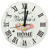 Personalised Home is where the heart is wall clock