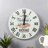 Personalised Floral Glass Kitchen Clock