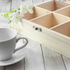 Personalised 6 compartment wooden tea box