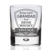Keep Calm Grandad Personalised Whisky Glass gift