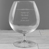 Father of the Bride Engraved Brandy Glass