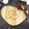 Heart & Arrow Personalised Heart Chopping Board