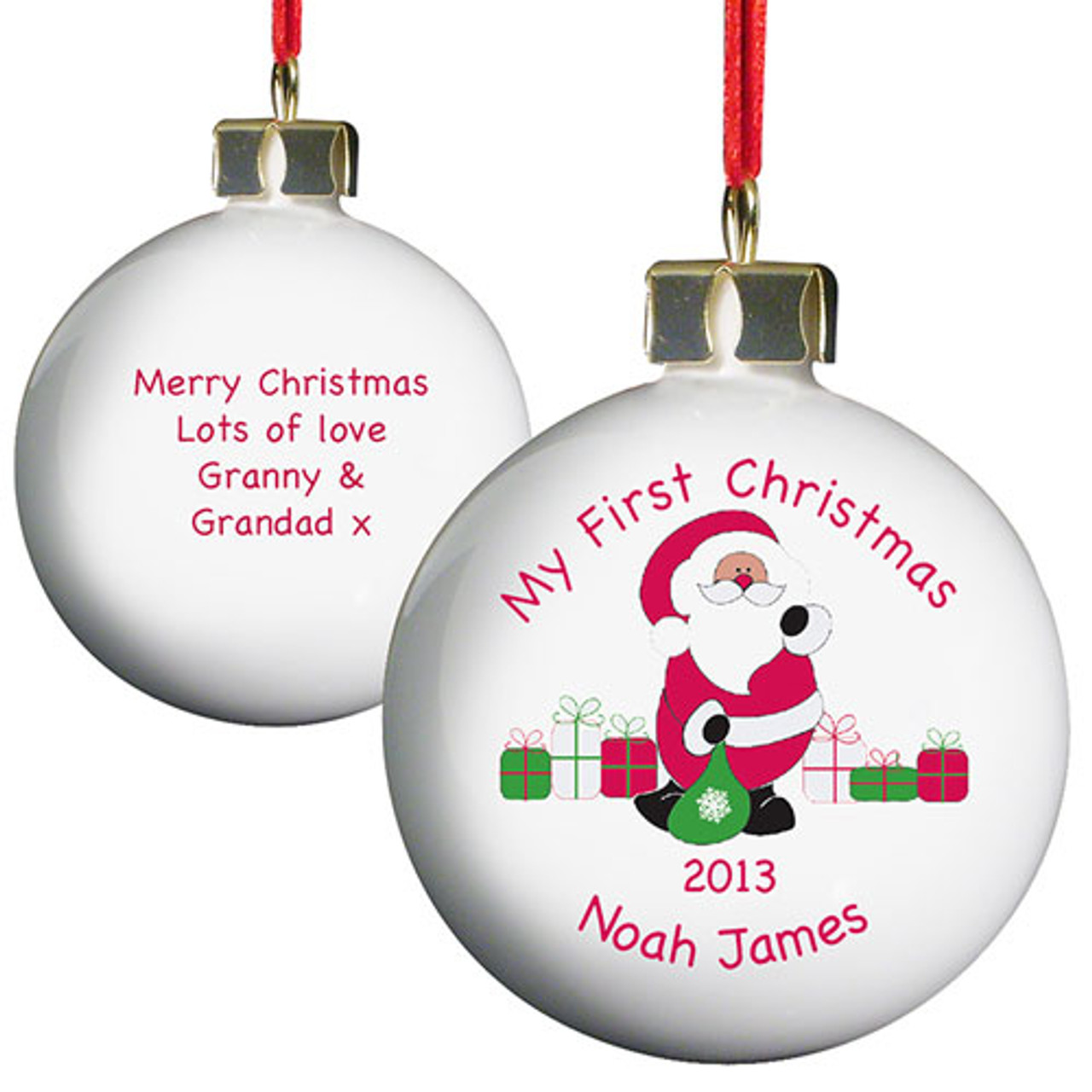 My First Christmas.Personalised Christmas Bauble My First Christmas Bauble
