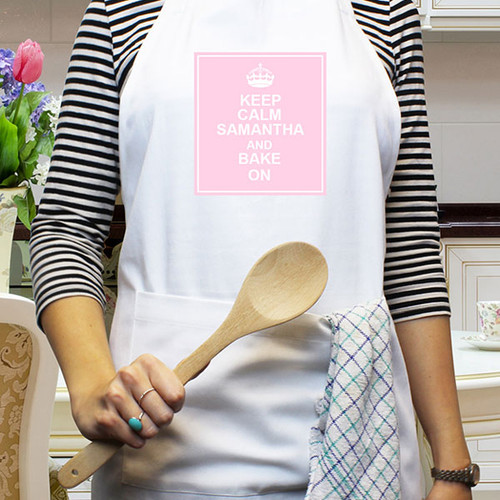Personalised Keep Calm Womans Apron