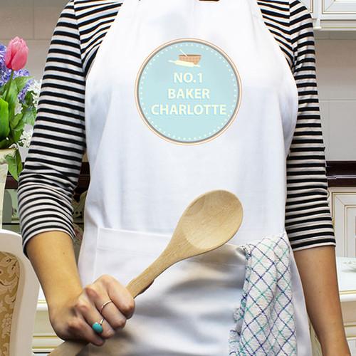 Personalised No 1 Baker Apron
