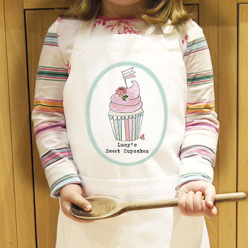 f95446c3b677 Personalised Cupcake Kids Apron | The Kitchen Gift Company