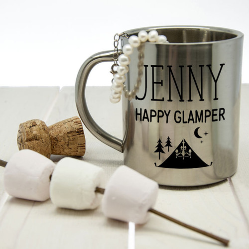 Personalised Happy Glamper Glamping Mug