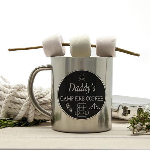 Personalised Campfire Coffeee Camping Mug