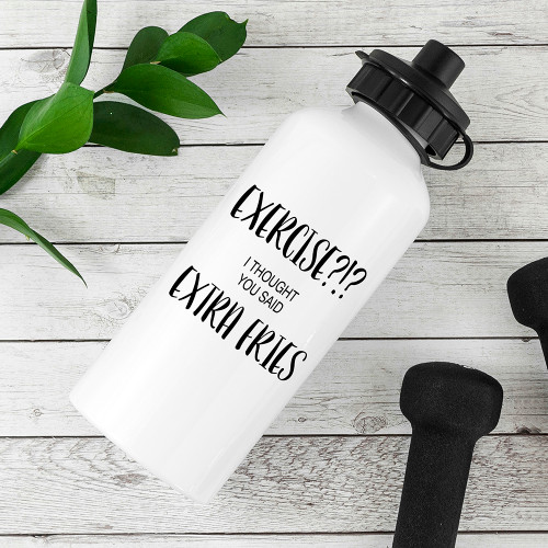 Personalised White Metal Sports Bottle