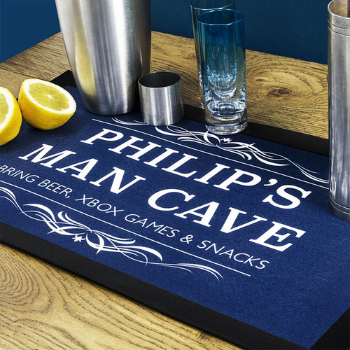 Blue Personalised Bar Runner