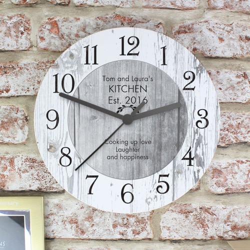 Personalised Shabby Chic Kitchen Clock