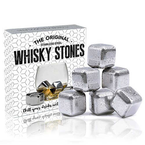 Stainless Steel Whiskey Stone Cubes - Set Of 6