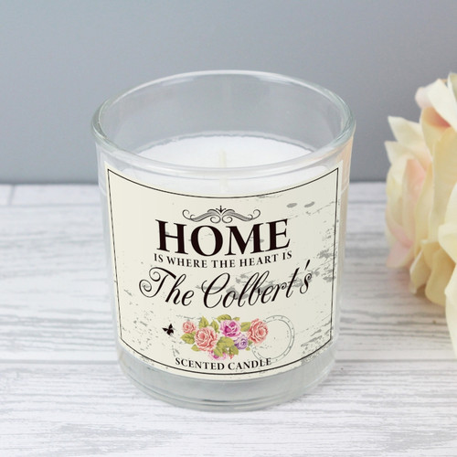 Personalised Scented  Home Sweet Home Candle