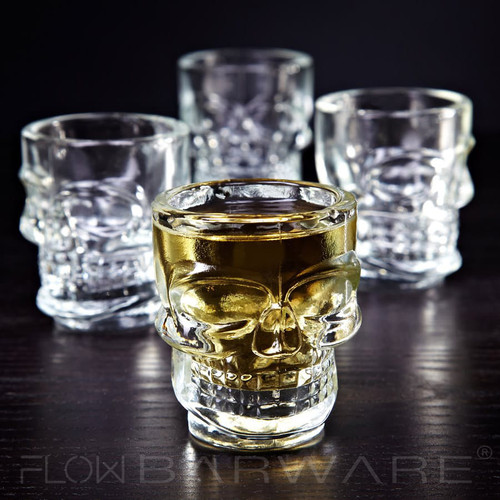 Set of 4 Skull Shot Glasses