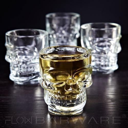 Set of 4 Skull Shot Glasses
