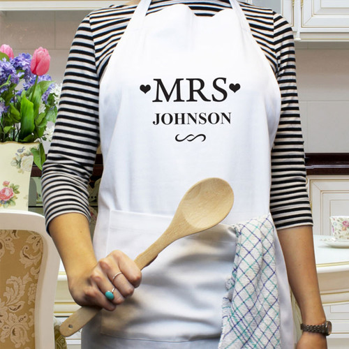 Personalised Mrs KItchen Apron