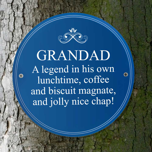 Grandad Heritage Plaque