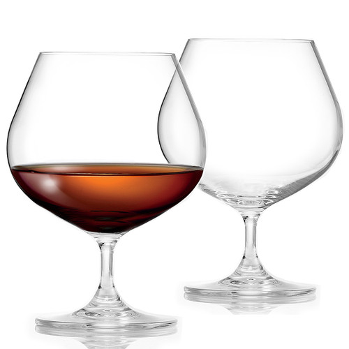 Large Crystal Brandy / Cognac Glasses by Flow Barware