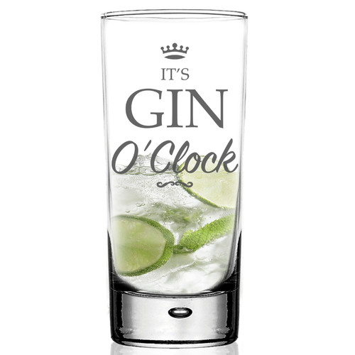 It's Gin O'Clock HighBall G&T Glass