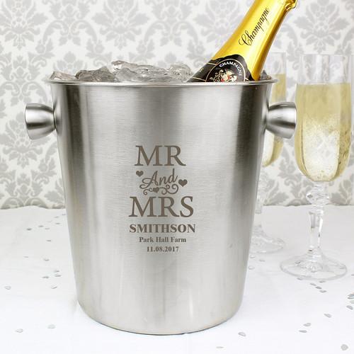 Personalised Mr & Mrs Ice Bucket