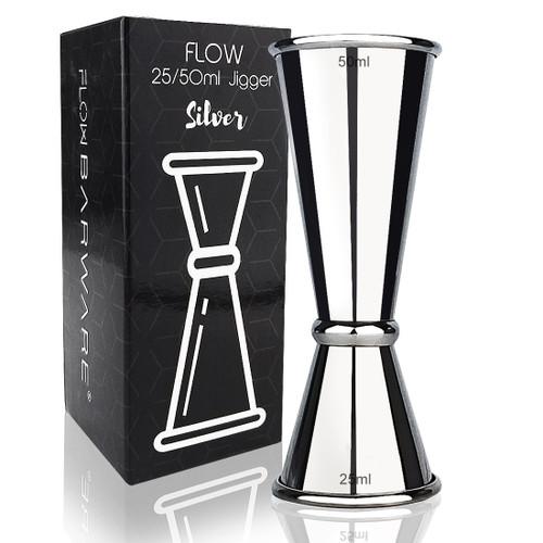 Silver Jigger FLOW Barware