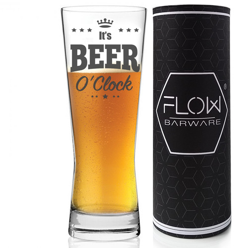 It's Beer O'Clock Beer Glass flow barware