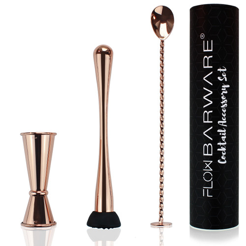 Copper Cocktail Accessory Gift Set by FLOW Barware