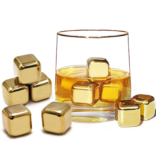 Gold Reusable Ice Cubes