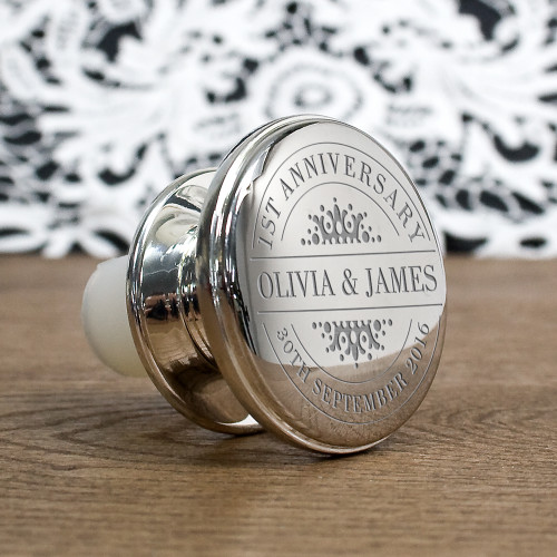 Personalised for any occasions Silver plated wine stopper