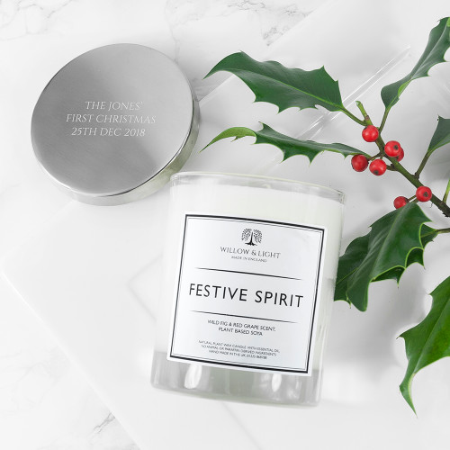 Personalised Festive Spirit Candle