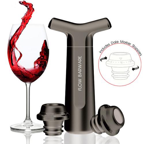FLOW Wine Vacuum Pump & Stopper Set