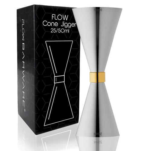 Silver Cone Jigger FLOW Barware