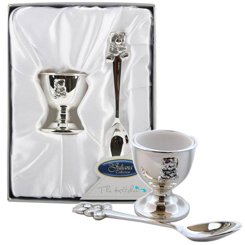 Silver Egg Cup & Spoon