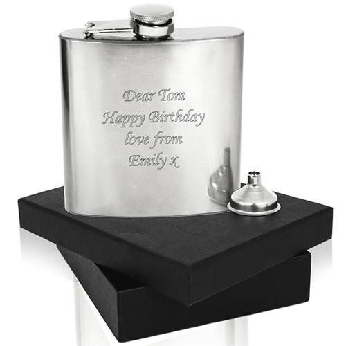 Personalised Stainless Steel Hip flask