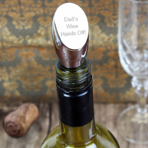 Personalised Wine Stopper for Dads