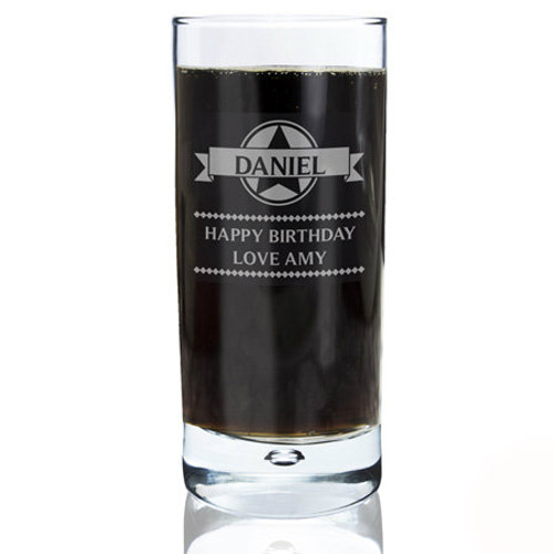 Engraved Personalised Glass