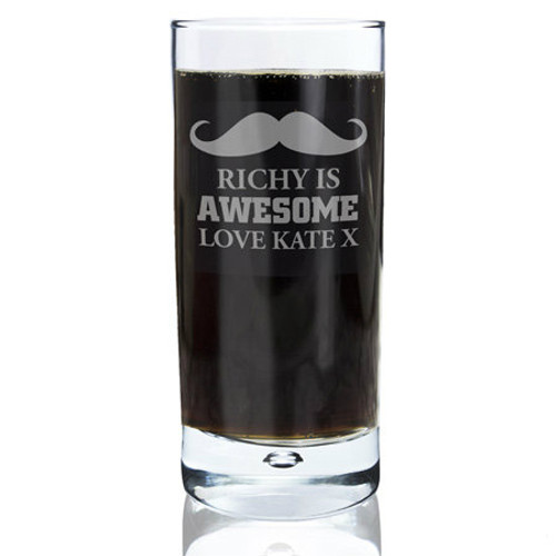 Personalised Moustache Glass