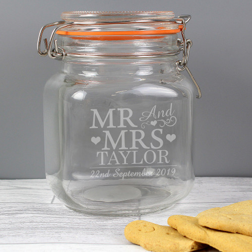 Personalised Kilner Cookie Jar