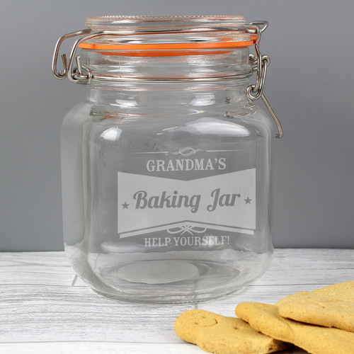 Personalised Kilner Baking Jar