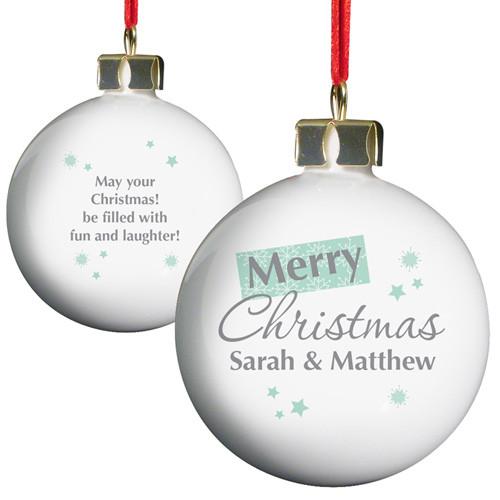 Merry Christmas Snowflake Bauble