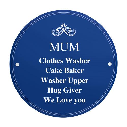 Mum Personalised Heritage Plaque