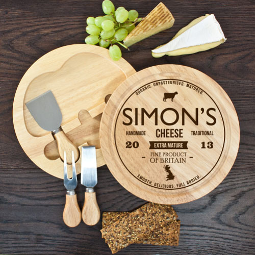 Personalised Cheese and Knife Set