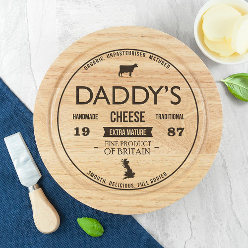 Personalised Wooden Cheese Board Set