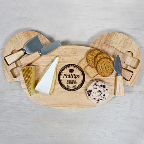 Personalised Artisan Cheese Makers Cheese Board