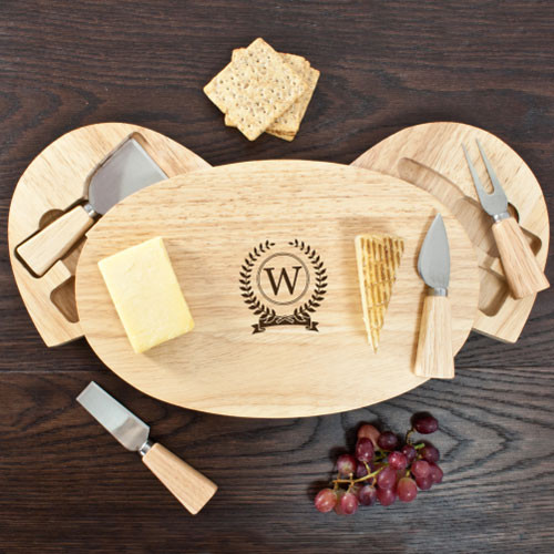 Personalised Monogram Design Cheese Board Set